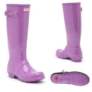 Hunter Women Original Tall Rain High Gloss Boots 9